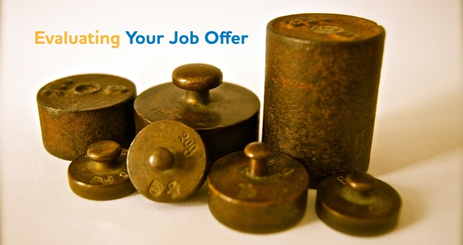 Evaluating Your Job Offer
